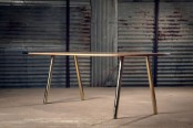 Original Rocket Table From Wood And Metal