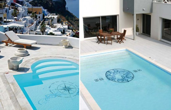 Original swimming pool decorations stickers by skine - Adornos para piscinas ...