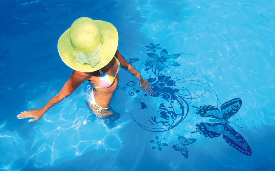 Original Swimming Pool Decorations Stickers By Skine