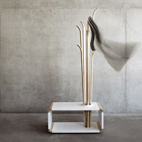 Original Tilia Coat Stand Resembling Of Skis