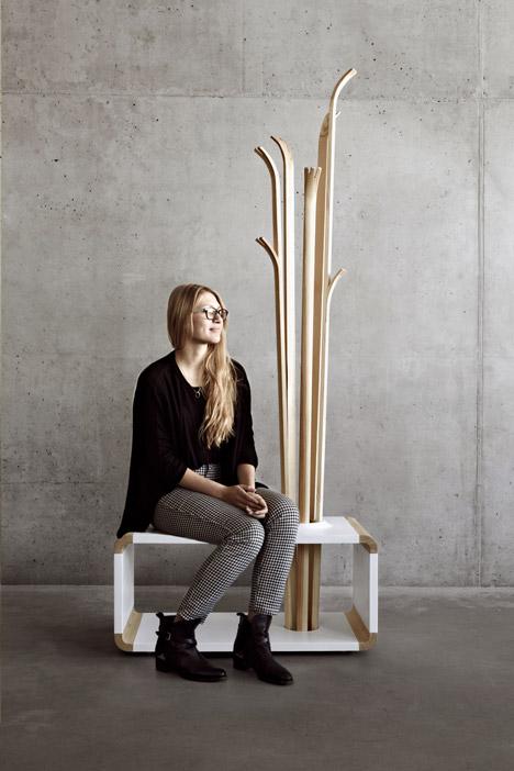 Original Tilia Coat Stand Resembling Of Skis