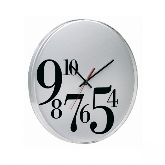 Time Big Bodoni Wall Clock