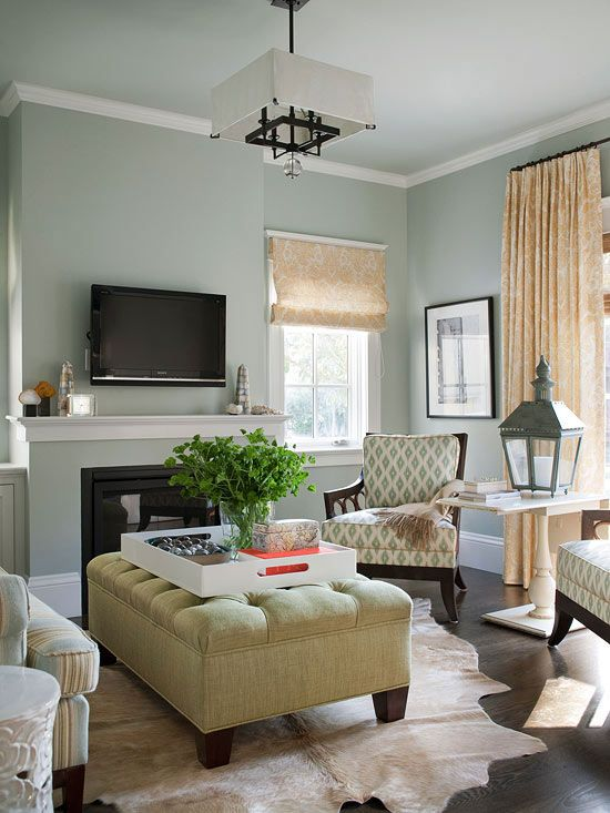 Drawinng Room: The Latest Décor Trend: 29 Ottomans As Coffee Tables