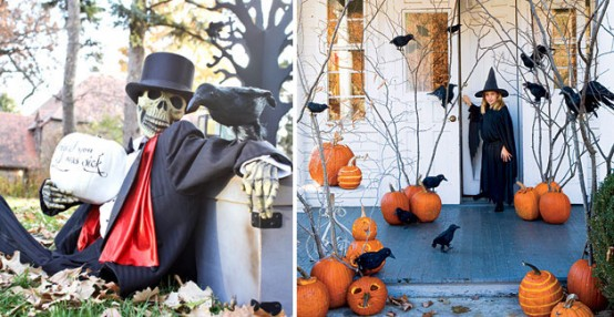 outdoor hallowen decorating ideas - Halloween Decorations Outside
