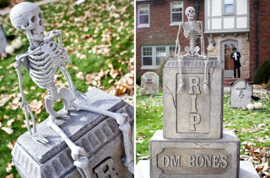 Adding skelets on grave markers you've made would make them way cooler.