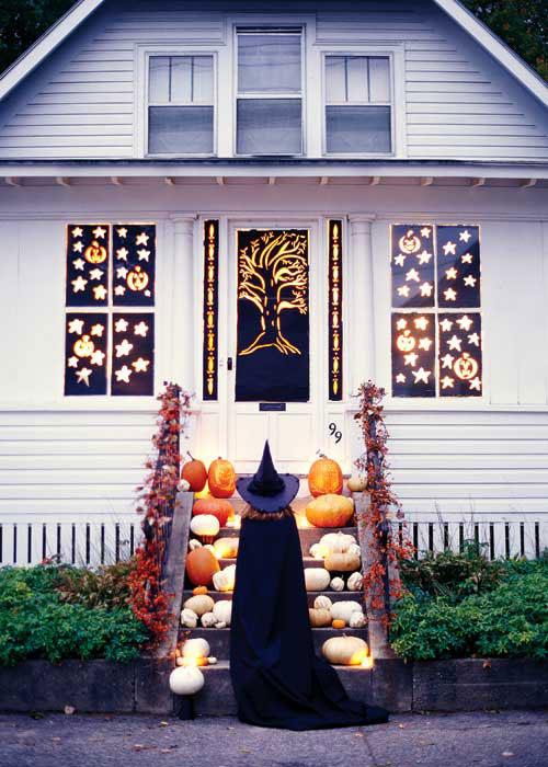 125 cool outdoor halloween decorating ideas digsdigs - Deco porte halloween ...