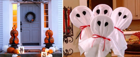 Add some personality to your front porch with a pumpkin topiary.