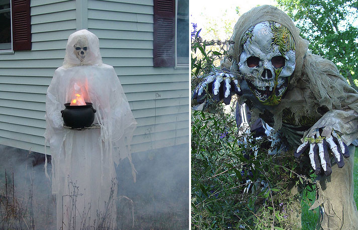 90 Cool Outdoor Halloween Decorating Ideas  DigsDigs ~ 152424_Really Scary Halloween Decoration Ideas