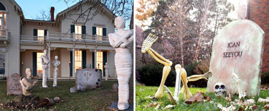 38 Homes That Turned Their Front Lawns Into Beautiful: 125 Cool Outdoor Halloween Decorating Ideas