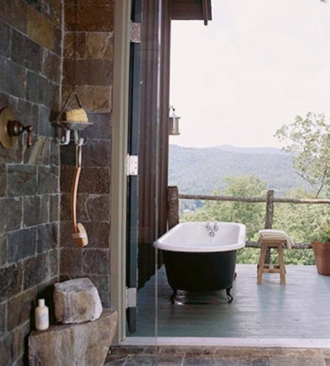 45 Outdoor Bathroom Designs That You Gonna Love - DigsDigs - photo#29