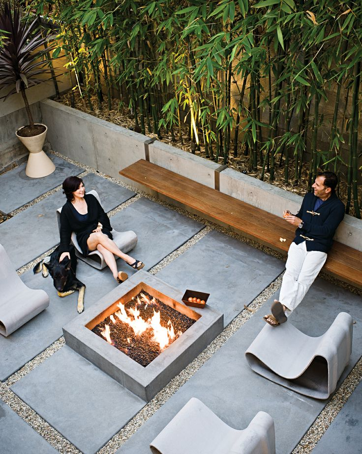 Outdoor Décor Trend: 26 Concrete Furniture Pieces For Your ... on Modern Concrete Backyard id=13975