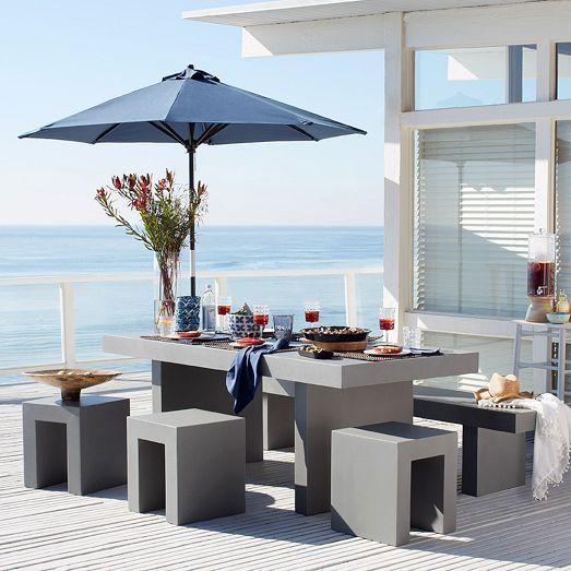 Fancy Outdoor Decor Trend Concrete Furniture Pieces