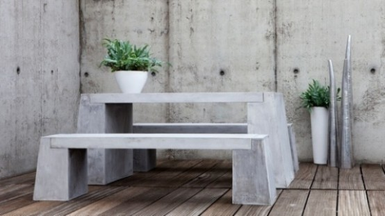 Lovely Outdoor Decor Trend Concrete Furniture Pieces