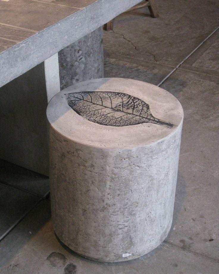 Picture Of Outdoor Decor Trend Concrete Furniture Pieces