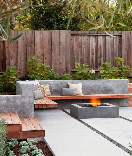 outdoor decor trend concrete furniture pieces - Backyard Decor
