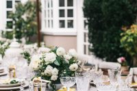 outdoor table setting for a gender neutral baby shower