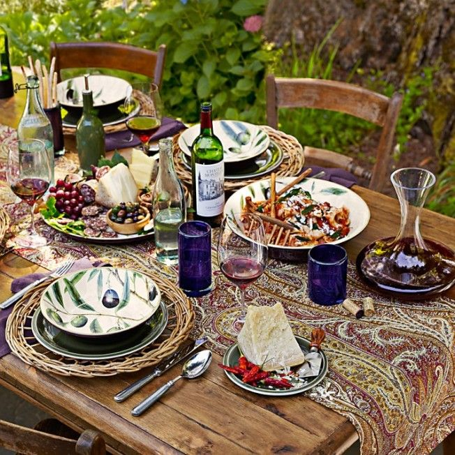 30 outdoor thanksgiving dinner d cor ideas digsdigs Outdoor dinner table setting