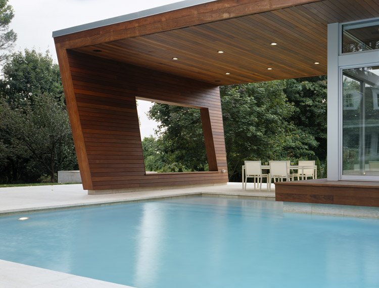 Outstanding Swimming Pool House Design by Hariri & Hariri ...