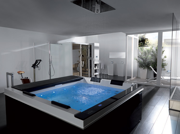 High tech luxury spa tubs pacific from systempool digsdigs for Bathroom jacuzzi ideas