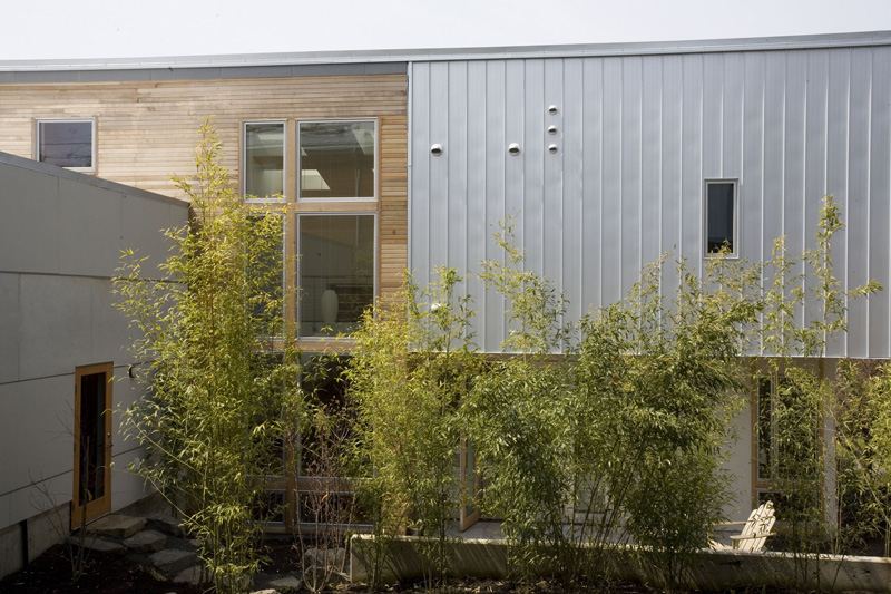 Pair Of Connected Row Homes With Bamboo Filled Courtyard