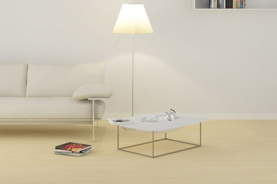 Coffee Table With a Hidden Storage Area and Tableware Tray – Pandora by Anzalone Bistacchi