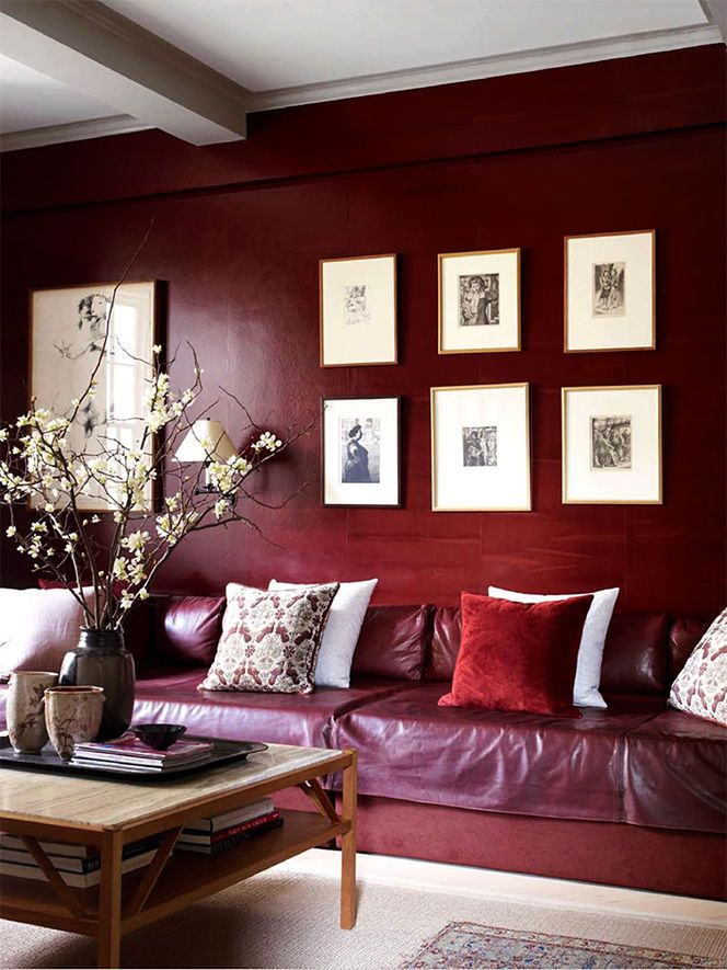Pantone s 2015 color of the year 30 marsala d cor ideas digsdigs Home decor ideas wall colors