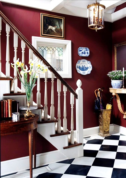 Pantone s 2015 color of the year 30 marsala d cor ideas for Black and burgundy bedroom ideas