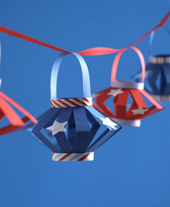 Paper Decoration Ideas For The 4th Of July