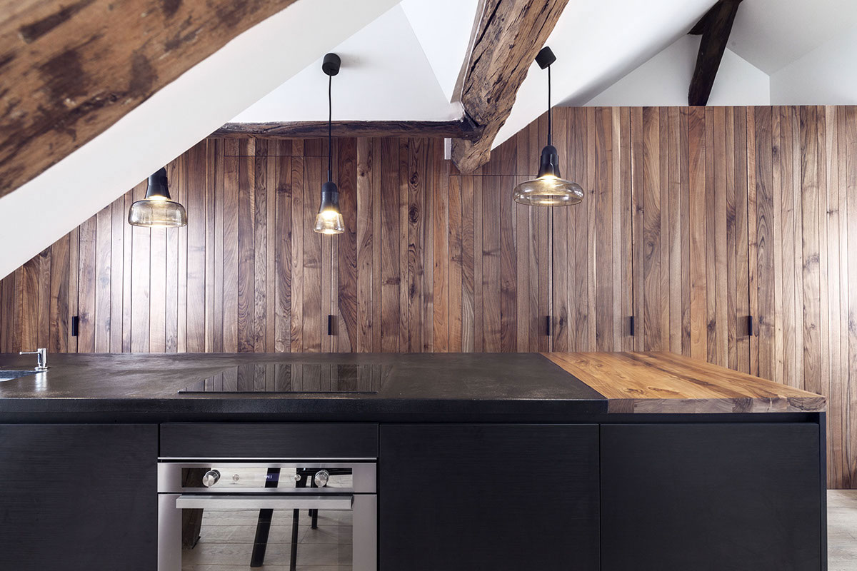 Picture Of paris apartment combining rustic charm and modern style  3