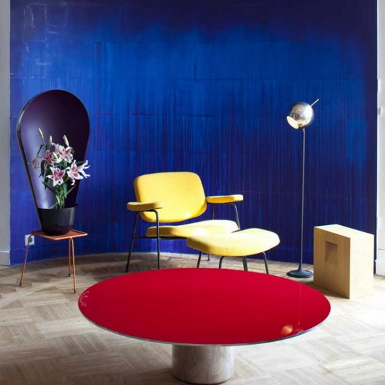 Parisian Art Deco Loft In Bright Colors