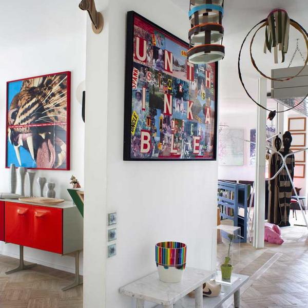 Art Deco Paris Apartment: Parisian Art-Deco Loft In Bright Colors