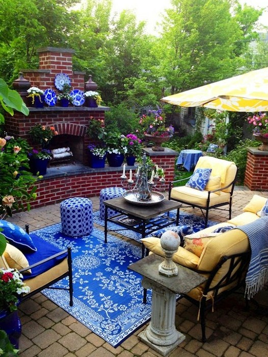 Elegant Pastel Patio Design Ideas