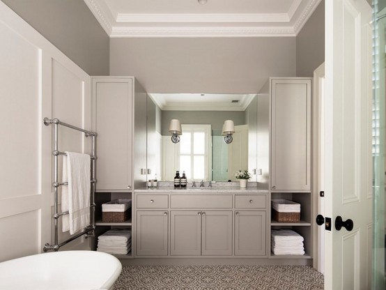 Peaceful Bathroom Design In Neutral Colors Part 78