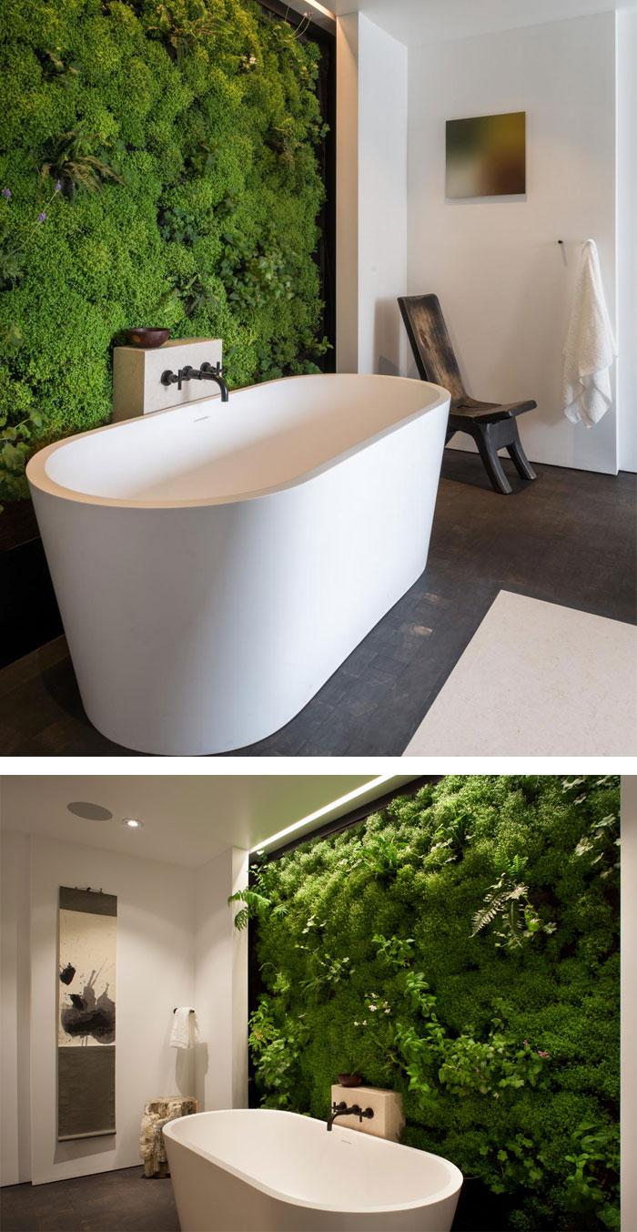 Picture Of peaceful indoor living wall designs for any home  5
