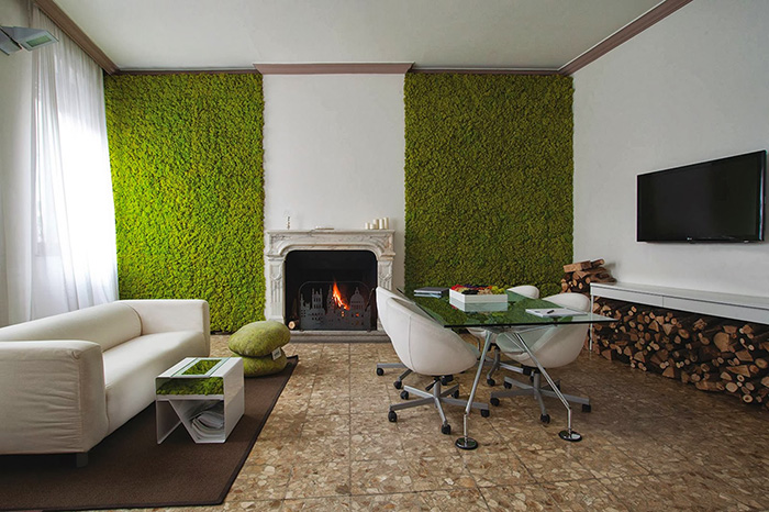 Picture Of peaceful indoor living wall designs for any home  8