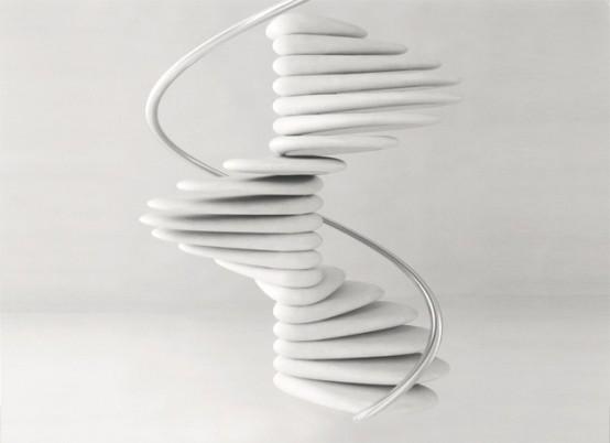 Pebbles Like Spiral Staircsae