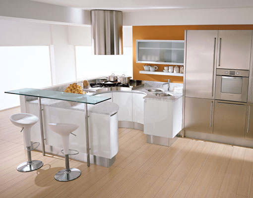 Pedini Kitchens With Rounded Countertops