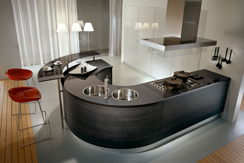 Pedini kitchens with rounded countertops digsdigs for Modern luxury kitchen designs
