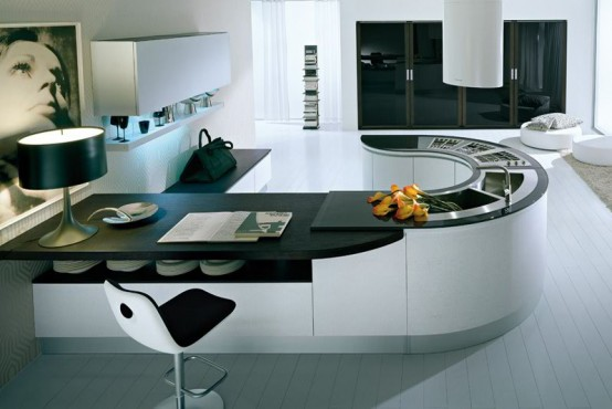 Pedini Integra Round Countertop Kitchen