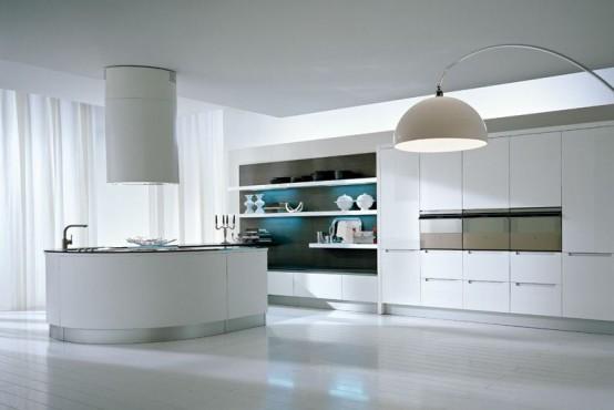 pedini integra round kitchen white