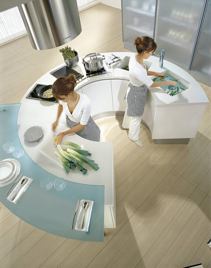 Pedini Kitchens With Rounded Countertops - DigsDigs