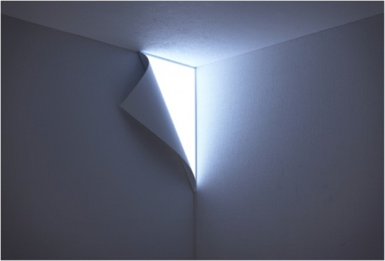 Peel Wall Light Yoy : Creative Peel Wall Light Hidden In The Corner Of the Wall - DigsDigs