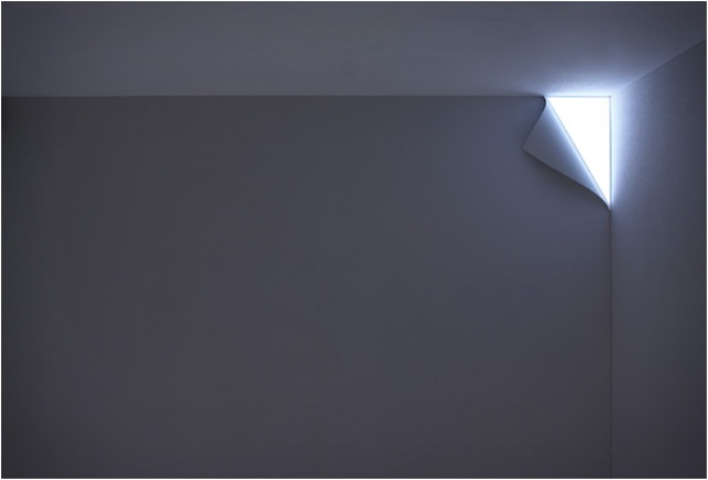 Creative Peel Wall Light Hidden In The Corner Of The Wall