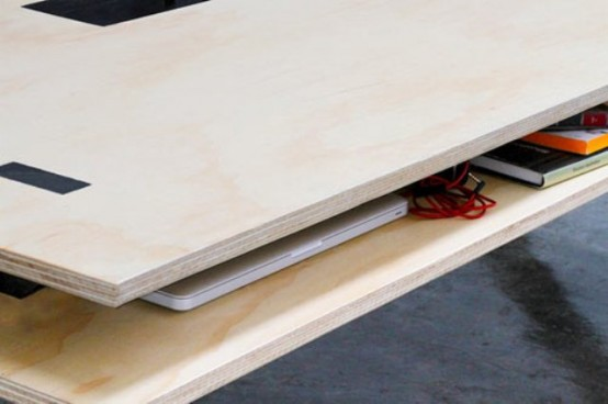 Perfect Coworking Desk With A Second Layer Storage
