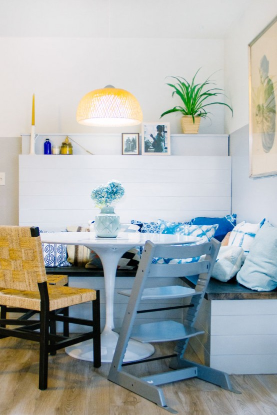 Personalized Family Condo With Touches Of Blue