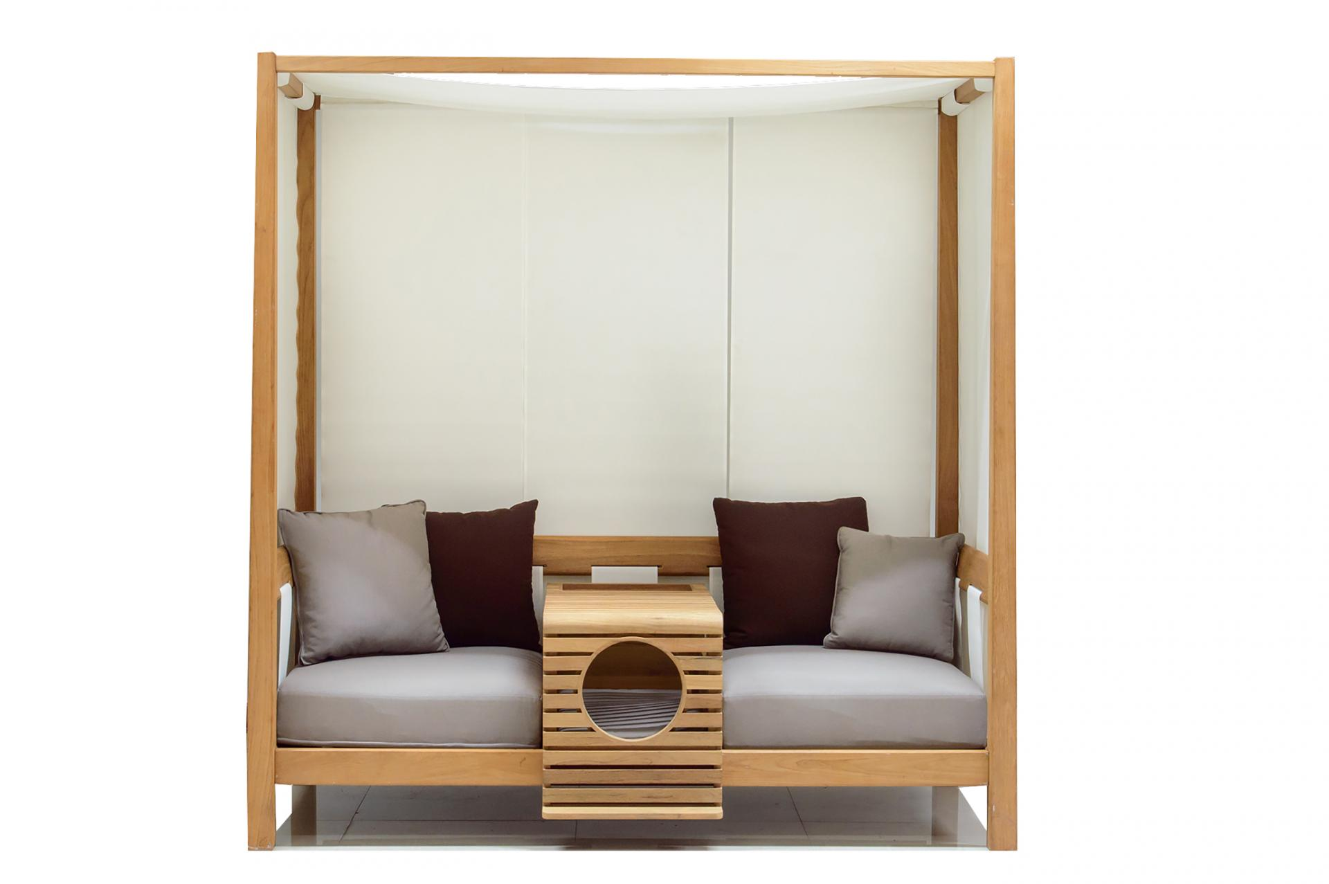 Picture Of pet modular sofa with a pet home integrated  4