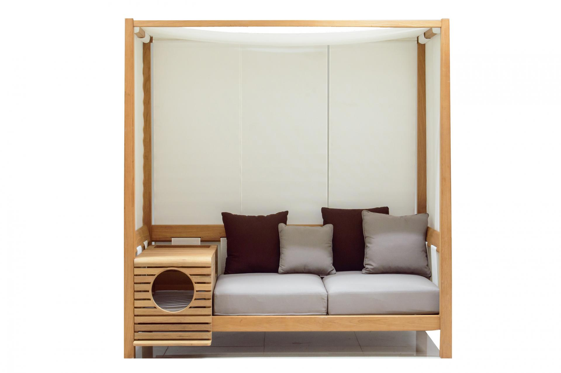 Picture Of pet modular sofa with a pet home integrated  5