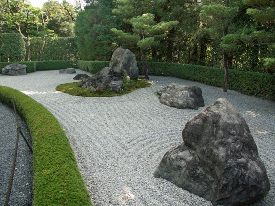 Stone Zen Garden 65 philosophic zen garden designs digsdigs addining stones and pebbles in different sizes is a great way to achieve this zen look workwithnaturefo