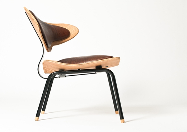 Aesthetically brilliant chair made of bent plywood and leather - Philosophical And Luxurious Poise Chair Digsdigs