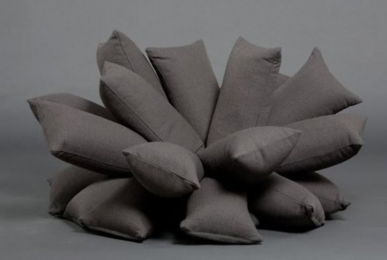 Unusual Sofa Made Of Pillows